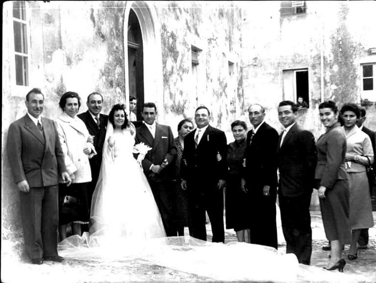 Foto ricordo parenti matrimonio
